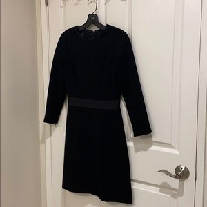 JCrew fitted wool dress with waist detail